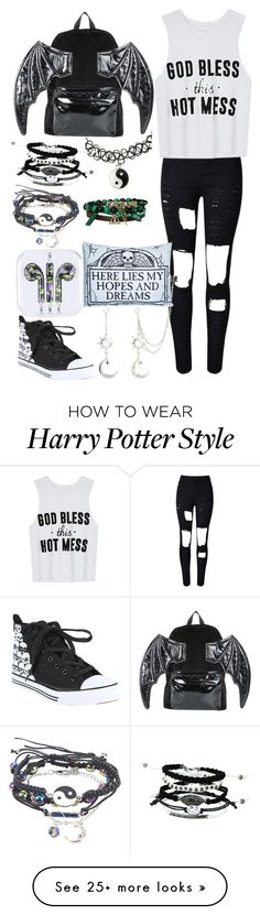 """""""Untitled #190"""" by punk-rock-trash on Polyvore featuring WithChic, Iron Fist and Sourpuss"""