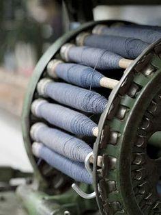 Thread bobbins... such beautiful shades of indigo!