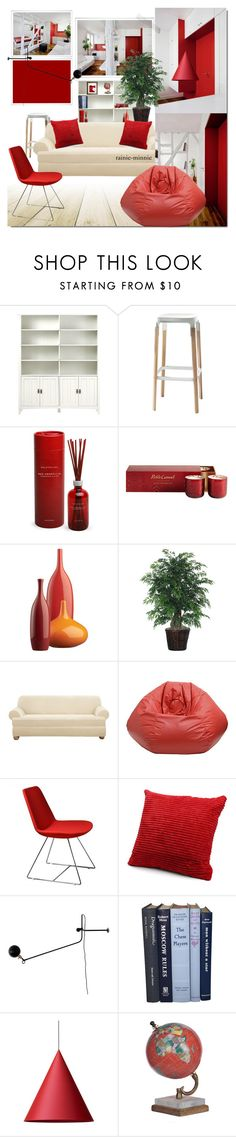 """Red and White"" by rainie-minnie ❤ liked on Polyvore featuring interior, interiors, interior design, home, home decor, interior decorating, Home Decorators Collection, Magis, Archipelago Botanicals and Illume"