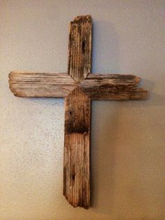 Rustic Barnwood Cross Aged Wood Cross by RusticMagnoliaDesign
