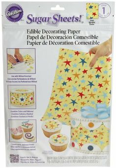 Wilton Multi-Color Stars Sugar Sheet by Wilton. $16.54. Unleash your creativity with Wilton Punch-Cut-Decorate products!  Sugar Sheets! are a quick and easy way to add colorful details to cakes - even if you've never decorated before!  Edible decorating paper, with simple instructions and inspiration.