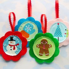 Felt and Fabric Ornaments | Just made these today for Christ… | Flickr
