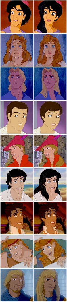 Female Phoebus actually looks a little bit like gwyneth paltrow, don't u think? All of them look more like real women than other disney princesses!