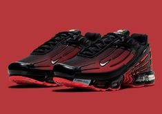 The Nike Air Max Plus 3 Returns In Another Deadpool Style Colorway Jordans Sneakers, Air Max Sneakers, Air Jordans, Nike Air Max Plus, I Cool, Deadpool, Kicks, Footwear, Shoes