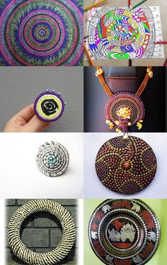 Spirals and circles by AneleArt on Etsy--Pinned with TreasuryPin.com