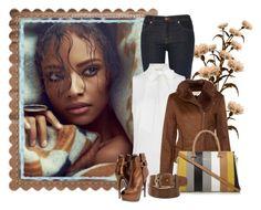 """wonen fashion"" by paolafashion ❤ liked on Polyvore featuring Firth, J Brand, MICHAEL Michael Kors, VILA, Giuseppe Zanotti and Oscar de la Renta"