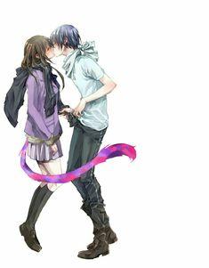 Yato and Hiyori Anime Noragami, Manga Anime, Yato And Hiyori, Film Anime, Anime Love, Anime Guys, Desenhos Love, Yatori, Anime Tumblr