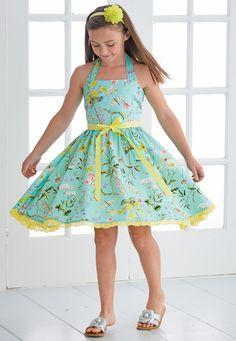 From CWDkids: Floral Lace Hem Halter Dress