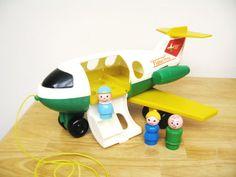 Vintage Fisher Price Jetliner by toysofthepast on Etsy, $30.00