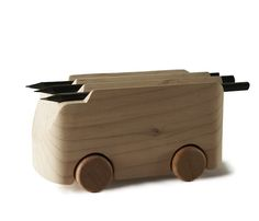 The ToBeUs Collection: 100 Architects and Designers Re-Imagine the Wooden Toy Car - SolidSmack Woodworking Garage, Woodworking Projects, Baby Toys, Kids Toys, Wooden Toy Cars, Kits For Kids, Wooden Art, Designer Toys, Made Of Wood