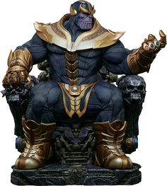 """The Infinity Gauntlet - Thanos on Throne 21 """"Maquette Statue by Sideshow Collectibles 