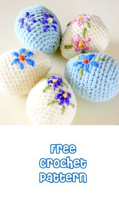 Easter is almost here! It's time to fill up our baskets with some colorful woolly crochet eggs! Crochet them around a plastic egg and fill… Holiday Crochet Patterns, Crochet Stitches Patterns, Amigurumi Patterns, Crochet Home, Crochet Gifts, Free Crochet, Easter Projects, Easter Crafts, Easter Egg Pattern