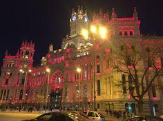 Madrid - Plaza de Cibeles by night