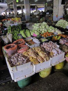 Marktstand - Bidayuh-Markt in Serian - Sarawak, Borneo / Malaysia