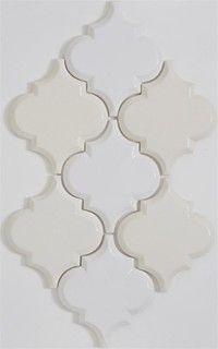 Beveled Arabesque Tile , Cafe Au Lait - Eclectic - Floor Tiles - by Mission Stone Tile