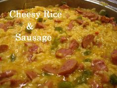 Cheesy rice and sausage recipe