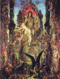 Le natif Bélier dans la peinture : Moreau Gustave Jupiter et Sémélé1896