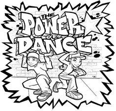 hip hop dance coloring pages