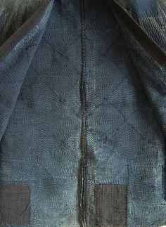Example of boro with sashiko stitching Courtesy of Sri Threads blog