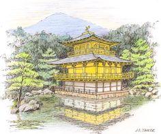 John S. Taylor, Kinkaku-ji (Golden Pavilion), Kyoto