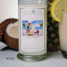 Our Pina Colada Jewelry Candle fragrance is a mouth-watering tropical blend of juicy pineapple and fresh coconut. A delightful scent bringing you back to fun days at the beach! Soy Wax Candles, Diy Candles, Candle Jars, Candles With Jewelry Inside, Jewelry Candles, Smell Good, Unique Gifts, Fragrance, Place Card Holders