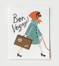 Rifle Paper Co - Bon Voyage Card