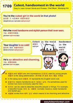 Easy to Learn Korean Language 1701 ~ 1710
