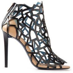 Vionnet laser cut leather shoes