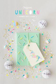 H A B I T A N 2 Decoración handmade para hogar y eventos www.habitan2.com Free Printable Origami Unicorn Gift Tags | Oh Happy Day! | Bloglovin'