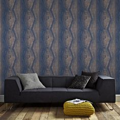 Graham & Brown Vermeil Stripe Blue and Rose Gold Removable Wallpaper Sample 10415294 - The Home Depot
