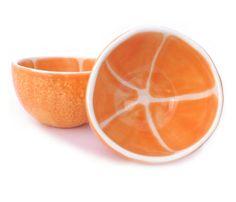 Pair of Orange Bowls by vegetabowls