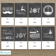 Christmas Gift Tag  Christmas Tags  Chalkboard by EllisonReed, $5.00