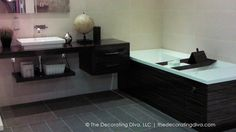 Contemporary & Masculine European Bath Design | The Decorating Diva, LLC