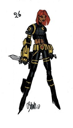 Black Widow concept art #26 by Chris Bachalo http://www.chrisbachalo.net/gallery-concepts.html