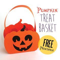 Halloween Paper Pumpkin Basket Printable Concept Of Pumpkin Paper Plate Crafts. Diy Halloween Basket, Dulceros Halloween, Bonbon Halloween, Easy Halloween Crafts, Halloween Treat Bags, Halloween Themes, Halloween Pumpkins, Holiday Crafts, Halloween Series