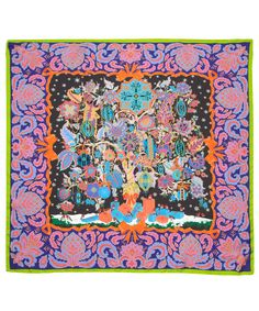 Green Christmas Tree of Life Print Silk Scarf, Liberty London Scarves. Shop the latest silk scarves from the Liberty London Scarves collection online at Liberty.co.uk