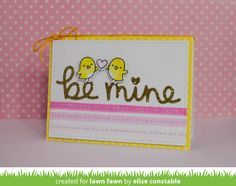 the Lawn Fawn blog: Lawn Fawn Intro: Stitched Heart Envelope, Be My Valentine Border, Scripty Mine + Valentine Borders