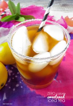 Zero calorie sweetened iced tea, made with Zing Zero Calorie Stevia Sweetener  via @smrtscholhouse