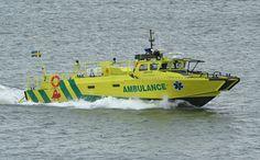 Danish Strb 90H i civil ambulance-boat