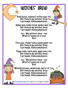 Clutter-Free Classroom: FREEBIE ALERT - Witches' Brew Adjective Activity....poem