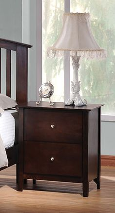 Coaster 202082 Tia Transitional Night Stand Cappuccino New   $169.00