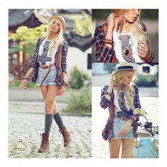 Erin Krauth LOOKBOOK ❤ liked on Polyvore featuring pictures, lookbook, girls, backgrounds ve models