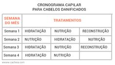 Cronograma capilar para cabelos danificados - Cacheia!