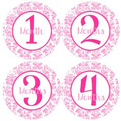 BABY MONTH STICKERS  Damask Baby Month Onesie by BabyStickerCo, $9.00