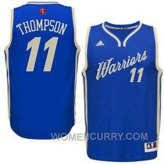 a9435053f37 NBA 2015-16 Season Golden State Warriors  11 Klay Thompson Christmas Blue Jersey  New Arrival