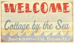 Vintage Beach Signs, Jacksonville Beach, Coastal, Decorating, Decor, Decoration, Decorations, Dekoration