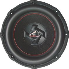 """AUDIOPIPE TXXBD10 10"""" 1200W Car Audio Power Subwoofer by Audiopipe. $91.96. 10"""" Composite cone car woofer. 2100 watts power (PMPO). 600 watts power (RMS). Frequency response: 26-1000Hz. Sensitivity: 88 dB. Air cushion foam surround composite cone. Black-powdered die-cast aluminum basket. 2.5"""" 4 ohm 4-layer black aluminum dual voice coil. Nomex spider. Mounting depth: 173mm (6.81""""). 100 oz magnet. Custom Audiopipe black gasket for tight air seal."""