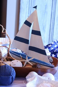 tablescapes--dough bowl sailboat