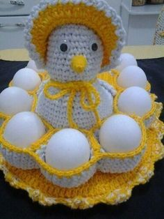 34 ideas for crochet basket free christmas gifts Crochet Kitchen, Crochet Home, Crochet Gifts, Knitting Projects, Crochet Projects, Knitting Patterns, Crochet Patterns, Free Christmas Gifts, Crochet Chicken