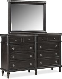Big Black Dresser with Mirror . Big Black Dresser with Mirror . Cheap Black Dresser, Small Dresser With Mirror, Black Dressers, Grey Dresser, Mirrored Bedroom Furniture, Dresser Furniture, Bedroom Dressers, Steel Furniture, Dresser Ideas